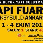 Nous avons pris notre place au 28. salon de Bâtiment et de Construction à Ankara