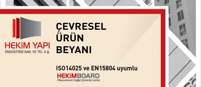 Les produits de fibre-ciment de Hekim Yapı ont reçu le document DEP