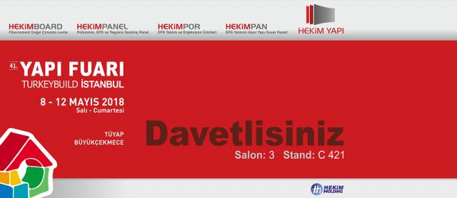 Nous prenons notre place au 41.Salon de Bâtiment et de Construction İstanbul
