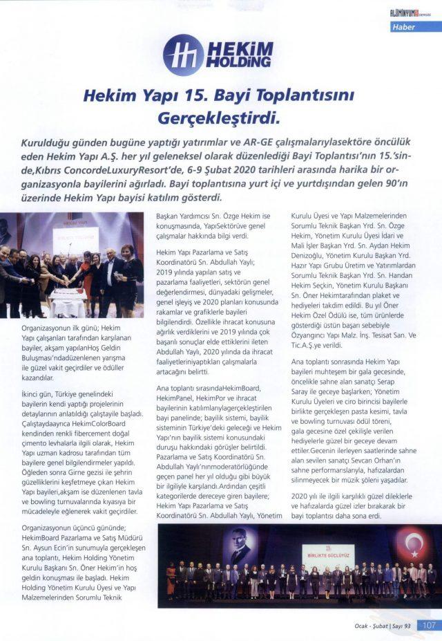 Alüminyum Yapı Magazine