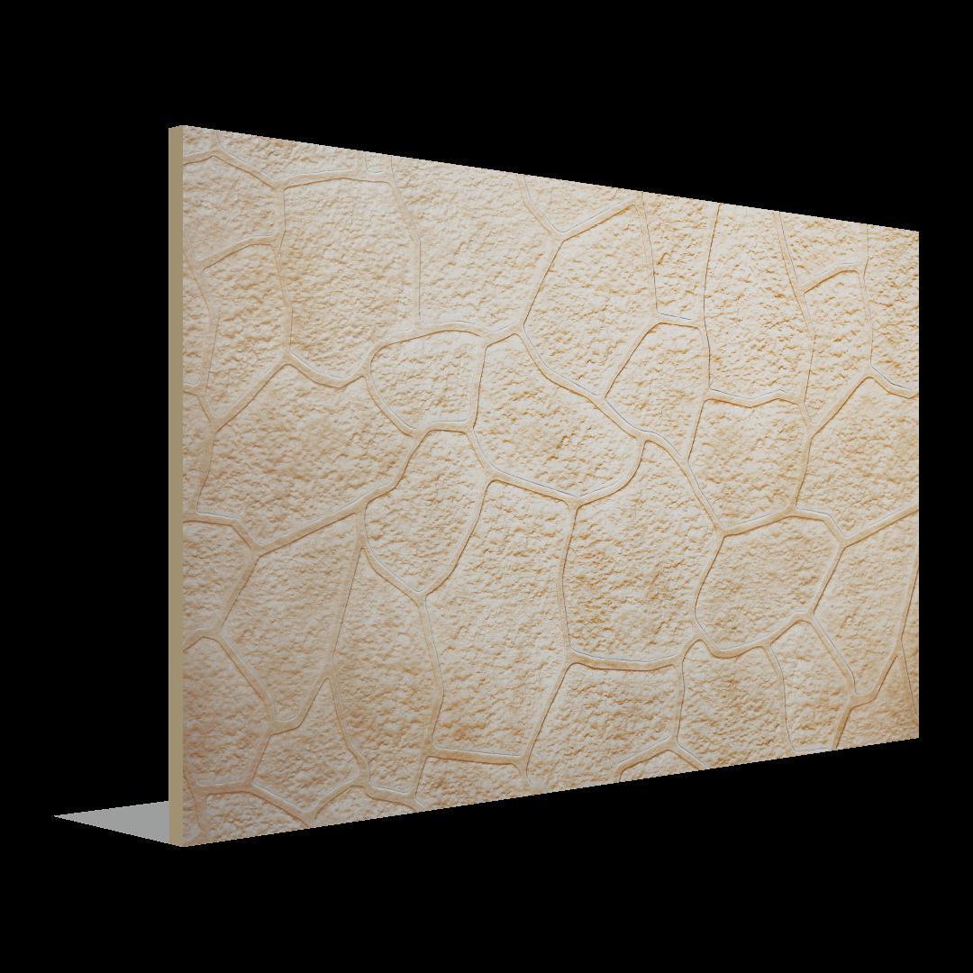 Feuille à motifs de pierre tricotée