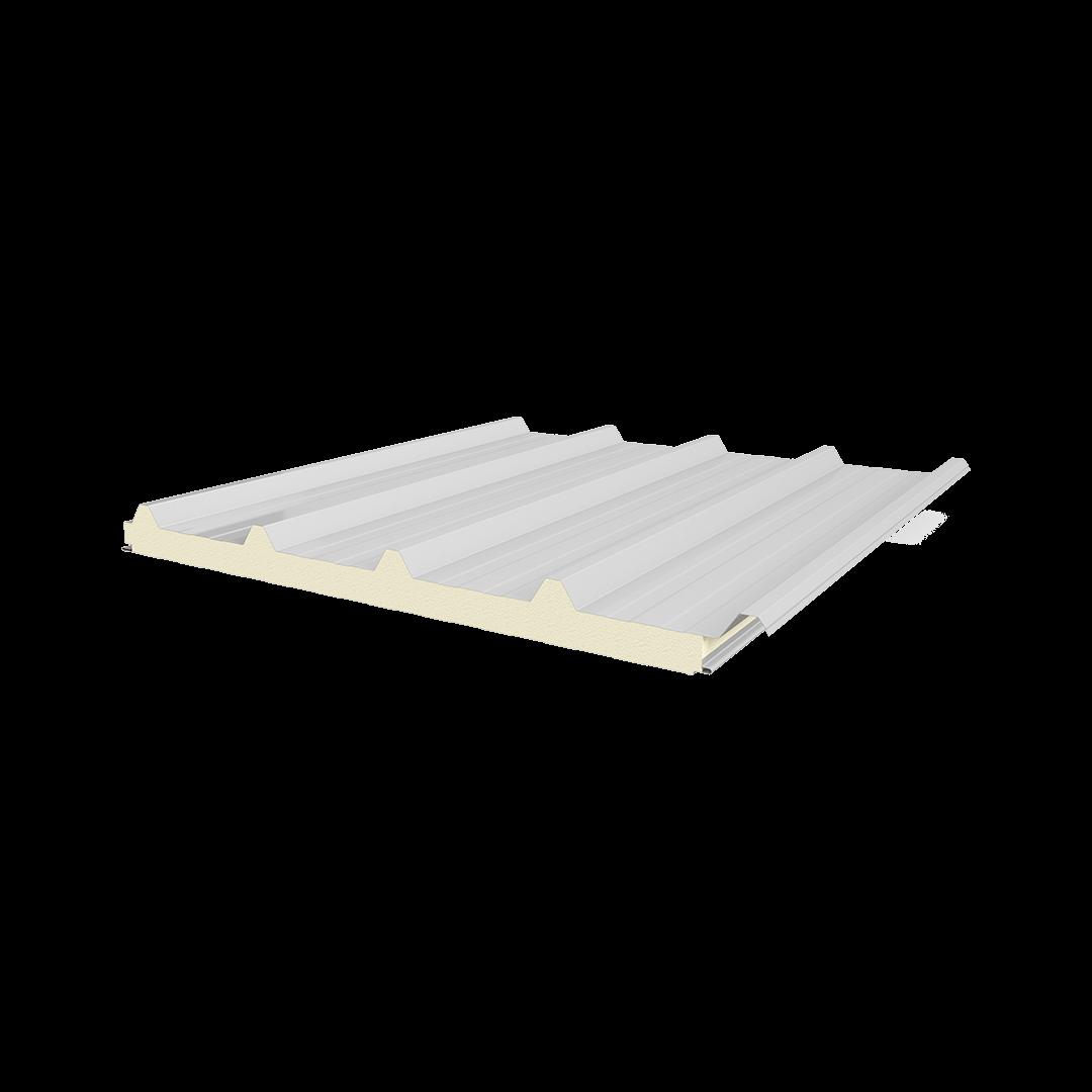 Panneau planche-tôle PIR à 5 côtes