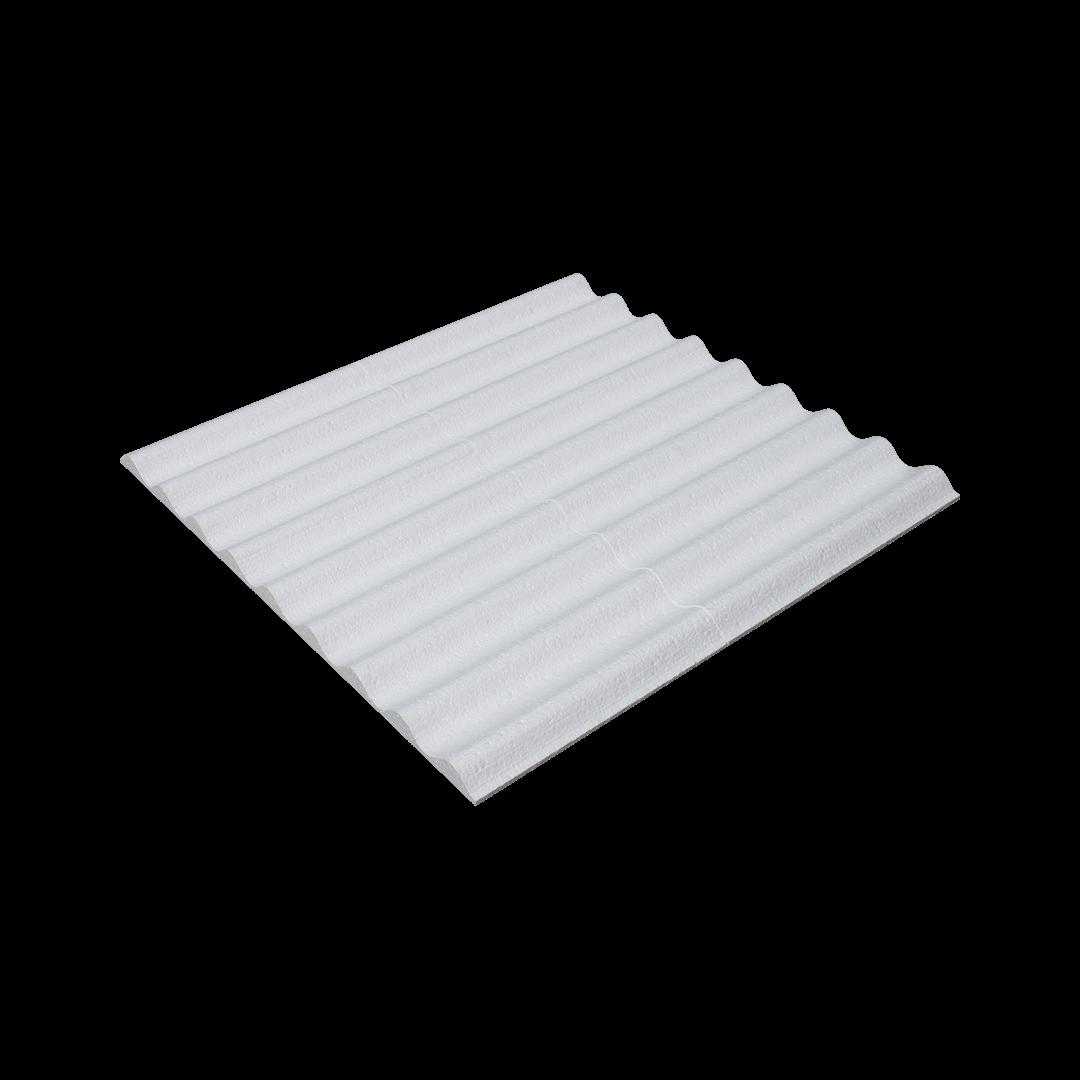 Polystyrène ondulé sous plaque